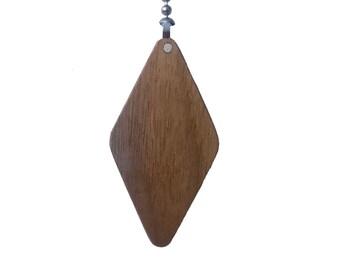 Wood Ceiling Fan Pull Chain-Walnut-Diamond