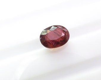 Dark Burgundy Natural Tourmaline. No Treatments. Large Loose Gemstone. Upside Down for Rose Cut. 1 pc. 2.19 cts. 7x9x5 mm (TM1074)