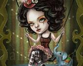 Creepy Circus Girl - Dark Carnival Fantasy Art Print