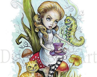 Alice in Wonderland Art - Children book Illustration