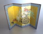 Vintage folding asian theme decorative mat