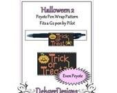 Bead Pattern Peyote(Pen Wrap/Cover)-Halloween 2