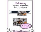 Bead Pattern Peyote(Pen Wrap/Cover)-Halloween 3