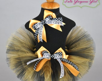 Black and Gold Tutu Headband Set...College Team Tutus...Football Team Tutus...Baby, Toddler, Girls Sizes...Adult Sizes Welcome