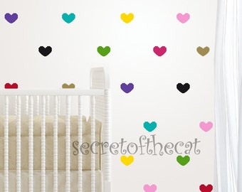 Confetti hearts - Nursery Wall Decal. Little Hearts Decal. Hearts decal. Wall Decal Nursery. Baby decal. Wall Pattern