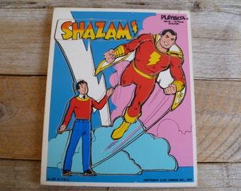 """Vintage """"Shazam"""" Comic Tray Puzzle 1976"""