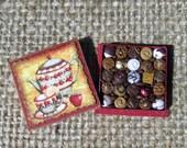 Dollhouse Miniature Box of Chocolates 12th Scale  Tea Time