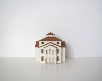Vintage miniature house/ villa/ architectural model/ wood house