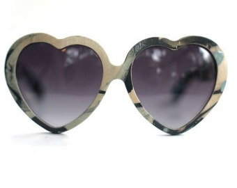 Marbled Maple Heart Sunglasses