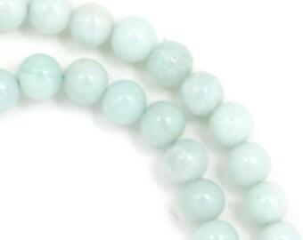 Amazonite Beads - 6mm Round - Half Strand