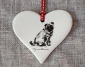 Pug dog Heart