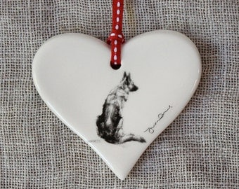 Valentine's German Shepherd Heart