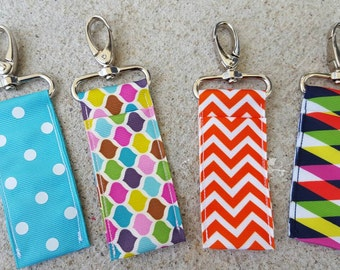 Polka dots, diamonds, raindrops, and chevron  lip balm holders