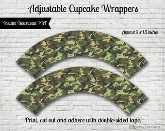 Forward March Cupcake Wrappers - Instant Download