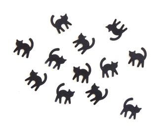 Black Cat Halloween Confetti Die Cut Embellishments