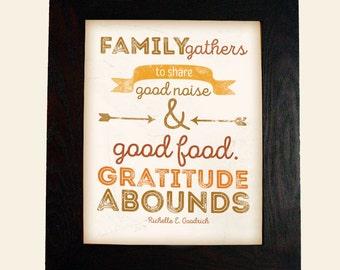 Thanksgiving Wall Art Print Home Sign Decor