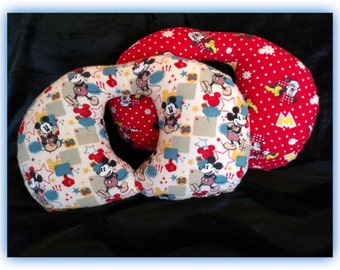 Travel Pillow - Car Seat Neck Support - Infant to Adult Sizes - Mickey - Minni Mouse