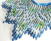 Shades of Blue and Green 6 inch Long Beaded Fringe or Decorator Trim