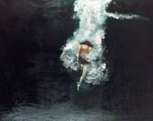 "Giclee Art Print Figure Wall Art ""Submerged"""