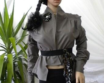 Unusual women's shirt 100% cotton - flannel.