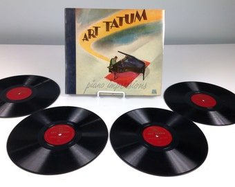 Art Tatum Piano Impressions Record Collection Set of 4 Albums, Arthur Tatum Pianio Gift, Vintage Artwork