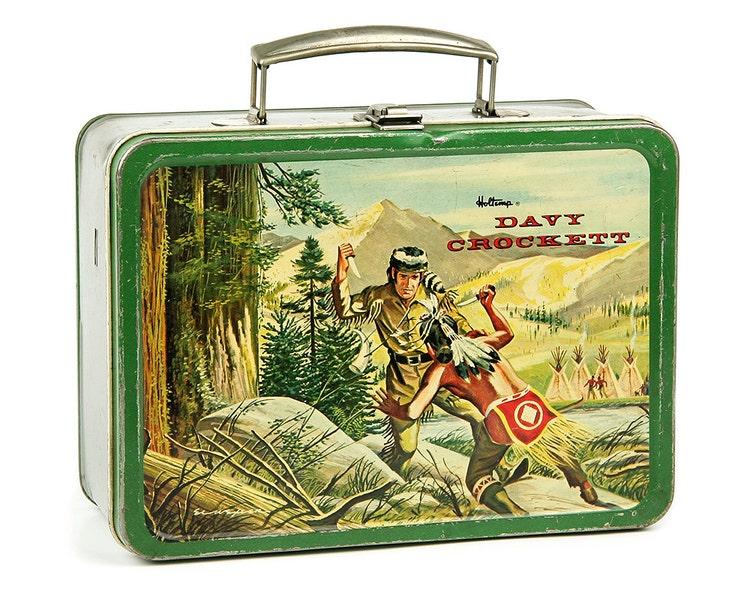 1955 Davy Crockett Lunch Box By Holtemp Metal By Retroburgh