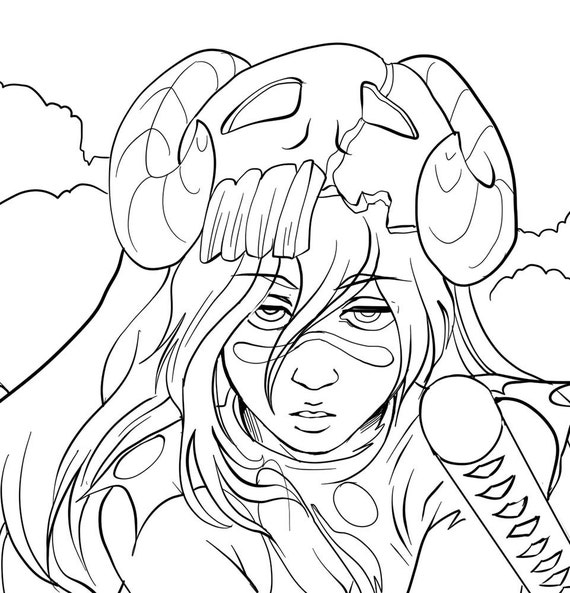Neliel Printable Coloring Book Sheet Nel from Bleach