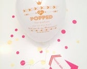 Personalized Will you be my Bridesmaid Card Balloons in your choice of color