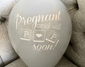 Pregnancy Reveal Balloon with Date Card and Envelope