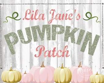 Floral Pumpkin Printable Custom Backdrop by Beth Kruse Custom Creations