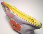 Cosmetic Pouch, Vintage Floral, Coin Purse, Small Make Up Bag, Zippered Pouch