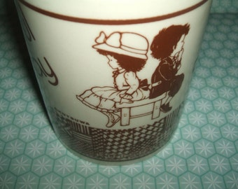Ultra Rare Vintage 1980s Kutsuwa Beautiful Sunday Mug - Never Seen for Sale Before