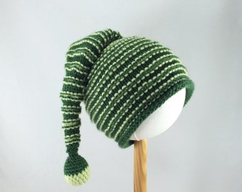 Knitted pixie style baby hat - knitted elf hat  - for boy or girl
