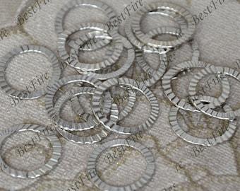 66 pcs of platinum tone Open Jumpring 21 mm