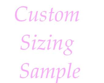 Custom Sizing Sample Package