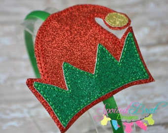Elf Hat Headband, Girls or Toddler Girls, Perfect for the Holidays and Christmas,  Made to Order