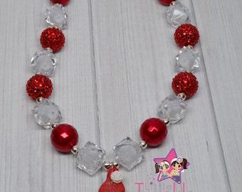 Santa Bubblenecklace Santa Chunky Necklace