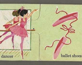 Vintage Mid Century Children's Illustration - Ballet Dancer