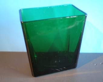 Vintage Mid Century NAPCO Green Glass Vase - Planter - Made in Cleveland, OH