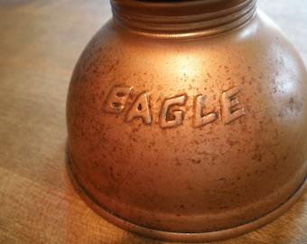 Vintage Mid Century Eagle Industrial Metal Oil Can