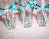 Bridesmaids Shot Glasses Personalized, SET of 4 Bride Shot Glass, Maid of Honor Shot Glass