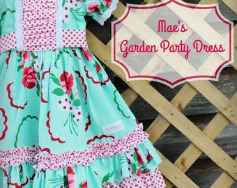 Mae's Garden Party Dress sizes 3/6m--10yrs