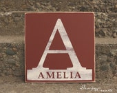 Custom Family Name Sign - BABY or FAMILY NAME Wooden Sign - Custom Made gift, Wood nursery sign, Personalized Family sign, Distressed