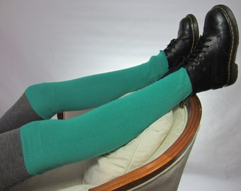 Cashmere Thigh High Over the Knee Socks Seafoam Green Leg Warmers A1670