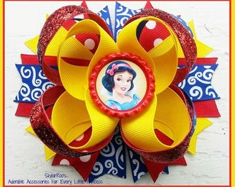 Snow White Inspired Hair Bow Clip