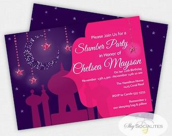 Arabian Nights Invitation   Aladdin   Magic   Arabian   Genie   Instant Download   Editable Text PDF that you personalize in Adobe Reader