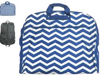 Personalized NAVY  CHEVRON  Garment Bag Travel Luggage  Womans