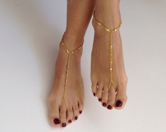Barefoot Sandals, barefoot sandles, wedding, Bikini, Bridal Sandals, Bridal Jewelry, shoes Women, Beach, READY TO SHIP