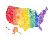 5x7, 8x10 or 8.5x11 - Rainbow USA Print
