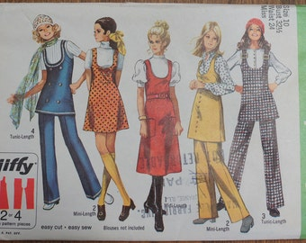 Vintage Sewing Pattern Simplicity Jumper, Tunic and Pants 8904 Size 10 Factory Folded